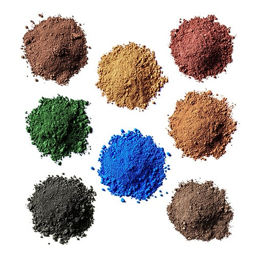 product: powdered color pigments